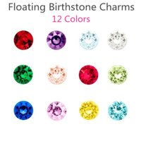 Wholesale 120pcs Fashion Acrylic Floating Charms Fit Magnetic Memory Living Locket Mix Color Birthstone Charms