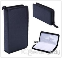 cd wallet - 2015 retail Portable Faux Leather Disc CD DVD Wallet Storage Organizer Holder Bag Case P Media Cases Storage