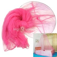 canopy - Fashion Bed Dome Canopy Netting Fly Midges Insect Stopping Mosquito Net Pink