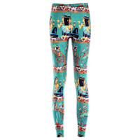 ancient egyptian beauty - Europe and new digital sky color leggings stretch yoga pants personality models of ancient Egyptian beauty pants