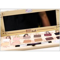 Wholesale The Balm Nude Tude Pro Cosmetic Eyeshadow Palette Luxury Nude Eye Shadow Palette Colors with Eye Shadow Brush Make Up Kit