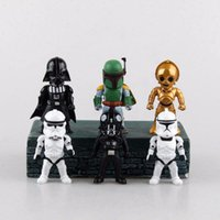 Wholesale 10cm Star War Q Style Darth Vader STORM TROOPER Action Figure Model Toy Without Box Sell WJ221