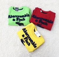 Wholesale Letters and Cute Embroidered Deer Kids Sweater Baby Boys Girls long Sleeve Cotton Peter Pan Collar Tops Clothing Deep Blue Gray Yellow L0295