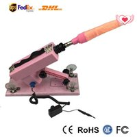 Wholesale Pink Color Automatic Sex Machine Gun Cannon with Big Dildo Sex Toys for Woman Vibration Move Speed minutes Vibrators for Women