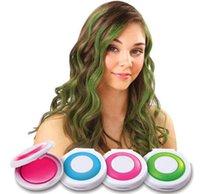 Wholesale Hot Huez Temporary Hair Chalk Press Slide Color colors Dye Hair Powdery Cake Powder Dye Hair Craze Soft Pastels Salon DIY Hair Colors