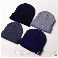Wholesale 4 Colors Vintage Winter Warm Men Cap Ladies Slouch Sport Beanie Knitted Oversize Beanie Casual Hat Gray Coffee For Xmas CCA1854