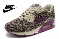 ladies shoes size - On Sale WMNS NIKE AIR MAX Floral Running Shoes Womens cheap max90 pink athletic shoes discount ladies colors size