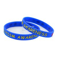 Jelly, Glow autism awareness bracelets silicone - Autism Awareness Wristband Silicon Bracelet Colours Adult Great Idea For Give Away Gift