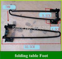 Wholesale Folding Table Foot Computer Table Legs Furniture Leg Plating Black