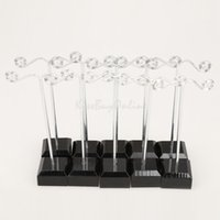 Wholesale 10pcs cm T shaped Earring Jewelry Display Organizer with Black Base K5BO