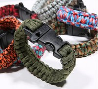 Wholesale 2015Travel wild life saving act role ofing is tasted Multi function survival bracelet with safety rope Outdoor decoration quality goods
