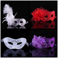 Wholesale Lin Fang g side flower mask Halloween Mask white Cardin mask with lace with flower mask flower mask
