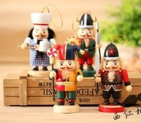 Wholesale 4Piece Cute CM The Nutcracker Soldier Puppet Zakka Home Furnishing Ornaments Kids Gift