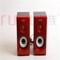 Wholesale Wood Stereo Active USB subwoofer HIFI Computer Notebook Speaker RS810