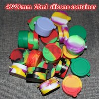 Wholesale 42 mm ml silicone container for wax oil custom silicone rubber container non stick silicone bho container