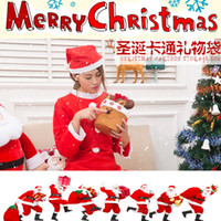 Indoor Christmas Decoration Cloth None Christmas New Snowman Reindeer Design Treat Candy Bags Wedding Xmas New Year Gift Bags Chirstmas Decorations Santa Bag Ornaments 4pcs lot