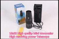 Wholesale 16x52 High quality Mini spy Monocular telescopio optical len x zoom magnification HD peeper telescope monocular