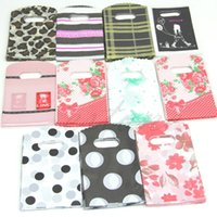 Wholesale Hot Sale Pretty Mixed Pattern Plastic Gift Bag Shopping Bag X9CM
