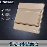 Wholesale Xi Diou a billing control switch socket panel champagne gold a single open wall power switch