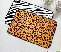 animal print area rug - 2015 new x60 Fashion Design Animal Print patterned carpet Bathroom Mat Area Rug door way Mat Zebra Leopard Black White Golden