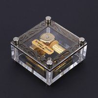 beautiful music box - Acrylic Cubic Musical Box Exquisite Workmanship Windup Music Box Notes Movement Melody Castle in the Sky Beautiful Patterns I1155