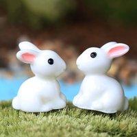Wholesale White Mini Rabbit Garden Doll house Home Plant Decor