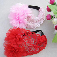 Wholesale New Fashion Cute Baby Kid Girl Elastic Flower Headband Hairband Hair Accessories Colors order lt no track