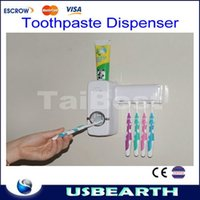 Wholesale Automatic Toothpaste Dispenser Family Toothbrush Holder set