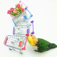 Wholesale Parrot Bird Toy Supermarket Shopping Cart Intelligence Growth Box Funny Kids G01198