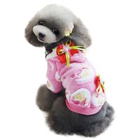 Wholesale Cute Flower Pet Dog Fleece Soft Coat Pajamas Winter Puppy Cat Hoodie Clothes