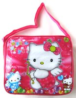 hello kitty tote bags - 2015 Cartoon kids lunch bag cooler thermal bag insulated lunch box bag for kids boys with box bottle back to school hello kitty