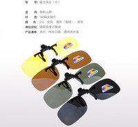 big clip frames - Men and Women Fashionable Polarizer clip pieces spectacle frame dedication sunglasses Big clamp night vision goggles Sunglasses