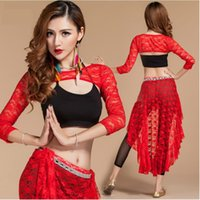 indian clothes - The new long sleeved lace belly dance belly dance practice clothes suit Indian dance performance clothing new