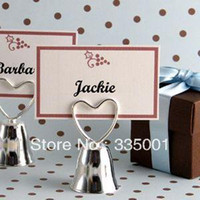 Wholesale Factory direcly sale Wedding favor Kissing Bell Place Card Holders