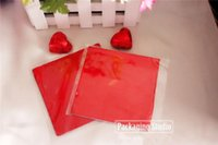 Wholesale 12 cm Chocolate Aluminium Foil Wrapping Paper Candy Tea Packaging Tin Red Foil Wrapper Paper Sheets