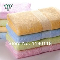 bamboo terry cloth - 2014 Top Sales Solid Bamboo Fiber and Cotton Terry Hand Towel Woven Health Face Cloth Good Gift cm cm