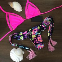beach bathing suits - 2015 Triangle bikini New sexy Beach Swimwear Ladies swimsuit For women swimwear bathing suit bikini brazilian maillot de bain
