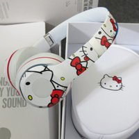 Wholesale 2015 New Arrival Hello kitty Limited edition HD headphone stereo DJ Headphone free EMS DHL