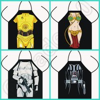 Wholesale 50PCS HHA555 Novelty Funny The Force Awakens Star Wars black fighters Darth Vader BB8 R2 D2 DINNER PARTY COOKING APRON