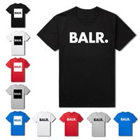 Wholesale 2015 fashion Men t shirts balr shirt homme street Tide brand personality male short sleeve balr shirt colors High quality