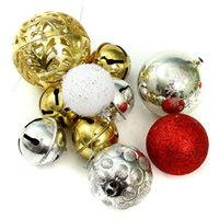 balls boxes including - Big Sale Package Merry Christmas Decoration Big Gift Set Tree Ornament Xmas Pendant Hanging Bell Including Ball Gift Box