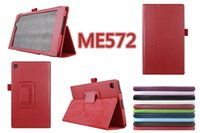 Wholesale For Premium stents leather case for Asus ME572 PU case Piece size