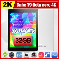 9.7 inch ips capacitive - US Stock Cube T9 G FDD LTE Phone Call Tablet PC Inch GB GB MP MTK8752 Octa Core Android Piex IPS Phablet
