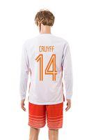 memphis - CRUYFF New Netherlands away white soccer kits HUNTELAAR long sleeve football uniform MEMPHIS men s thai quality sports tracksuit