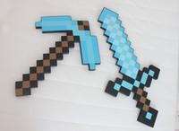 Wholesale Mix Accepted Minecraft sword Figure toy Minecraft Foam Sword Piackaxe AXE Hoe Shovel Sword Pickaxe