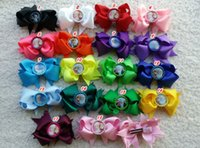 Wholesale Baby Girl frozen boutique clips bottle cap Hair bows Grosgrain hair ribbon bow boutique popular Hairbow Fashion H