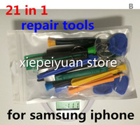 Wholesale 21 in original REPAIR PRY KIT OPENING TOOLS Torx Screw Screwdriver For phone Android Samsung HTC APPLE Iphone S S plus JP28