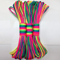 Wholesale Wholesales Rainbow Paracord Parachute Cord Lanyard Rope Climbing Camping Survival Equipment MA0071 salebags