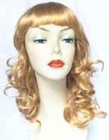 Wholesale Curly Kanekalon Wigs Reaching Shoulders pack