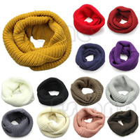 Gros-Warm Winter Infinity Large 2 Cercle Cable Knit Scarf col bénitier Femmes Long Châle
